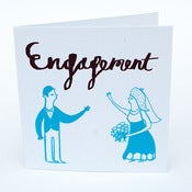 Image of Engagement Greetings Card