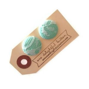 Image of Lace Button Earrings