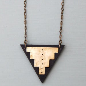 Image of V Step Triangle Necklace by Rachel Loves Bob