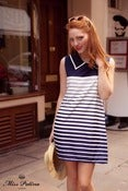 Image of Jackie O Dress (navy stripe)