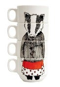 Image of 'Miss Badger' Coffee Cup Set