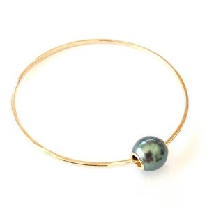 Image of Tahitian Pearl Bangle Bracelet