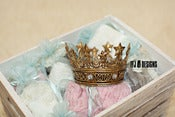 Image of Gold Jeweled Crown - Vintage Style - Photography Prop - Little Girls