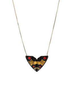 Image of Monarch Inlay Pendant Small Red & Gold
