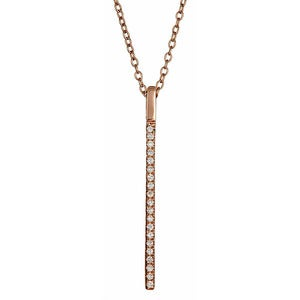 "Image of "" New ' Kara Ackerman <i> Talulah <i/> Faceted Stone Bar Motif Necklace in Rose"