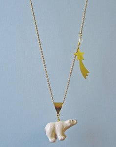 Image of Catching A Show Polar Bear Necklace
