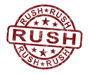 Image of Rush Shipping!