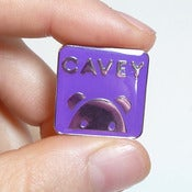 Image of Purple Enamel Cavey Badge