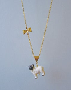 Image of It's A Pug's Life Pug Necklace