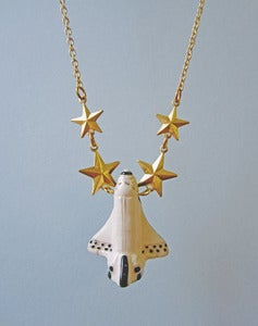 Image of To Infinity! Space Shuttle Necklace
