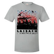 Image of LAIBACH-Over The USA T-Shirt/ NEW Wax Trax! Only