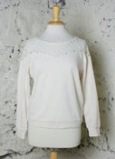 Image of Lace Laid Studded Sweatshirt