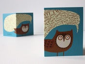 Image of Twit Twoo - Owl Mini Card