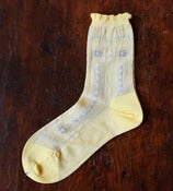 Image of Pale Yellow Lace Socks