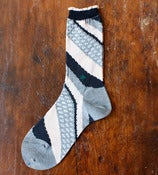 Image of Grey Diagonal Socks