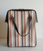 Image of vintage stripe box handbag