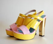 Image of colorful sandal heel