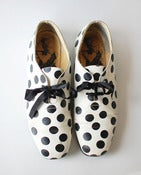 Image of vintage polka dot BW oxford shoes