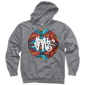 Image of Aztec SLOTH Tag grey hoodie  *Pre-Order