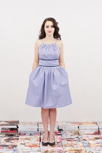 Image of Blue Stripe Sun Dress - Mariana