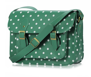 Image of Mint Polka Dot Classic Satchel