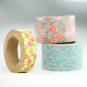 Image of Asian Floral Pattern Washi Tape
