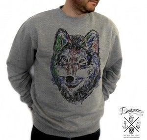 Image of Sweatshirt homme Wolf by Dadawan
