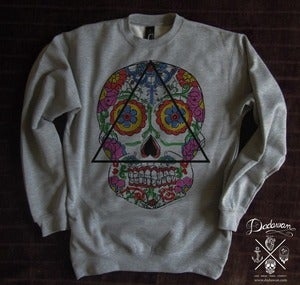 Image of Sweatshirt homme Santa Muerte Mexican skull
