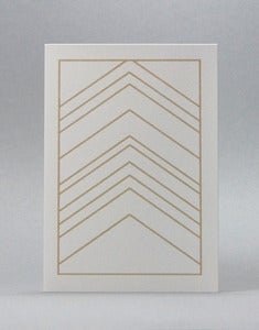 Image of Herringbone Beige Card