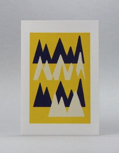 Image of Yellow Slalom Card