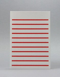 Image of Red Stripetown Card
