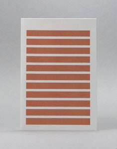 Image of Rust Stripetown Card