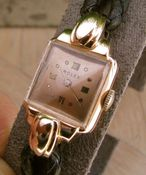Image of VINTAGE ROLEX PRECISION 18K SOLID GOLD WOMENS ROMAN NUMERAL DIAL - SOLD!