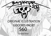 Image of ORIGINAL ILLUSTRATION Goodies Pack! (With T-Shirt)
