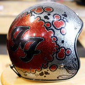 Image of Foo Fighters - Hand Inked Helmet