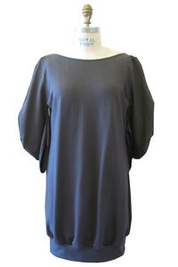 Image of C-Sleeve Mini Dress/Tunic in Pewter Soy Terry
