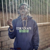 Image of Corporate Hippie Hoodie(blue, white, and green)