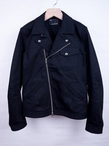Image of Number (N)ine -  Black Coated Twill Rider's Jacket