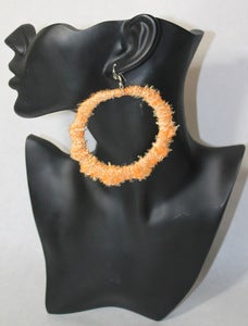 Image of Orange Twill Bamboo Hoops