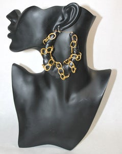 Image of &quot;Chanel&quot; Leather &amp; Gold Chain