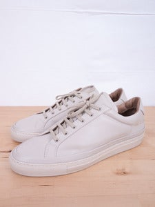 Image of Common Projects - Premium Achilles Low Beige Sneakers