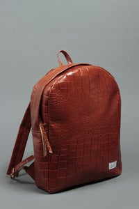 Image of Cowhide Backpack - Reptile