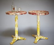 Image of gueridons ou table tolix / Tolix table or pedestal