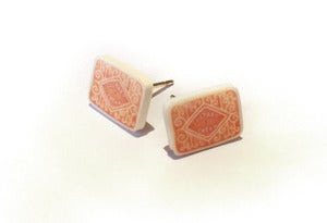 Image of Custard Cream Biscuit Earrings