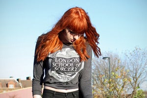Image of LONDON SORCERY charcoal pullover