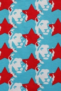 Image of Star Lion Blue and Red organic jersey (by the half metre)