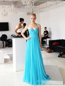 Image of Cinderella Silk Pleated Busiter Gown