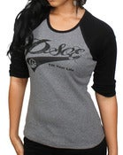Image of PSOE Ladies Baseball Tee (Black/Grey)