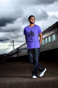 Image of PATTY MILLS in Purple Bling Tee