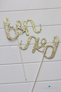 Image of Custom Glitter Monogram Centerpiece Sticks